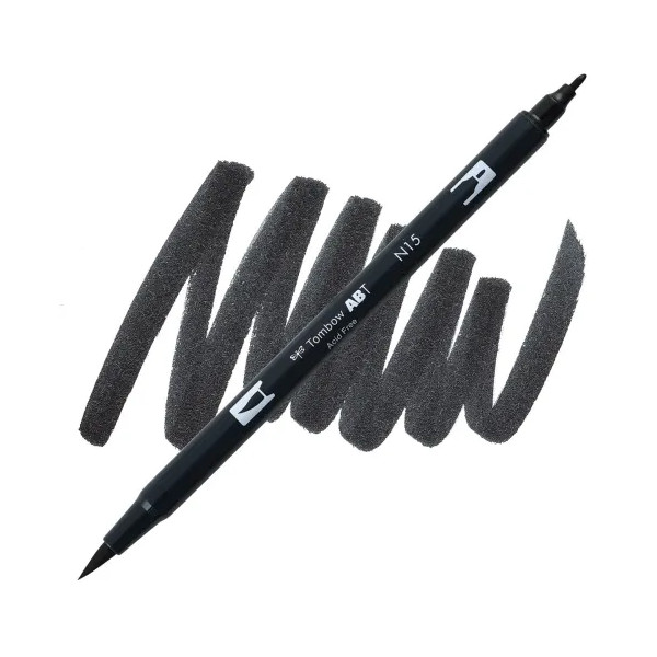 Black N15 Dual Brush Tombow