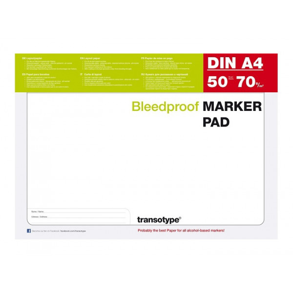 Marker Pad Bleedproof 50ff....
